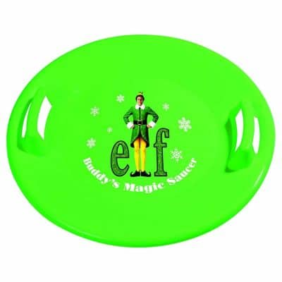 Slippery Racer Buddy The Elf Downhill Pro Saucer Snow Sled, Green