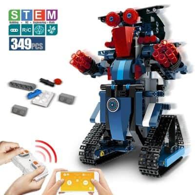 DAZHOG Remote Control Building Block Robot STEM Toy