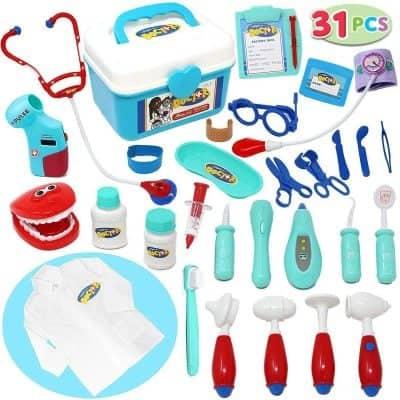 Joyin Kids Doctor Kit 31 Pieces Pretend-n-Play Dentist Medical Kit