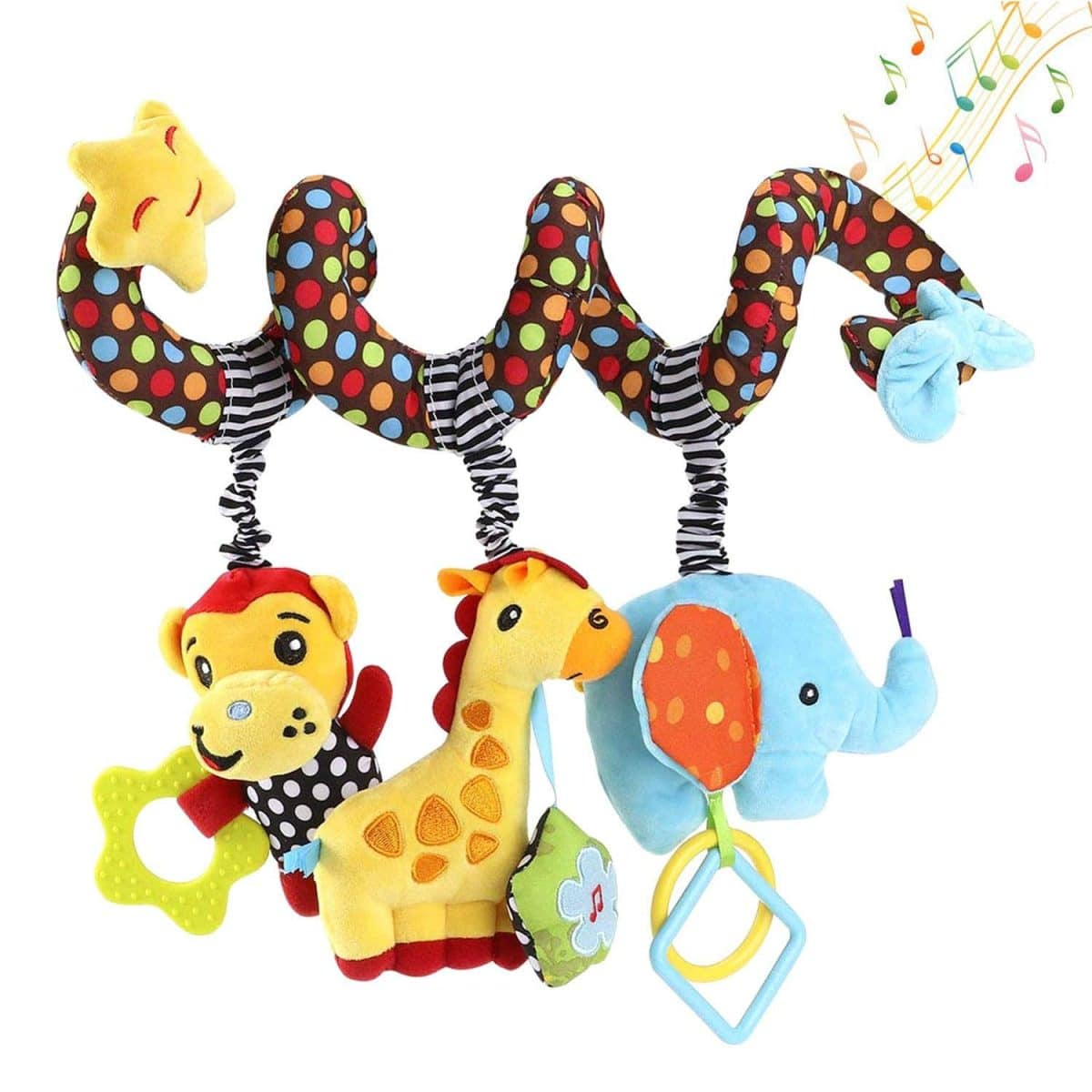 Elephant Cartoon Stroller Arch Rattle Hanging Baby Education Toy Around Crib Bed