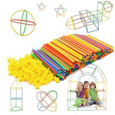 Rainbow Toyfrog Straw Constructor STEM Building Toys