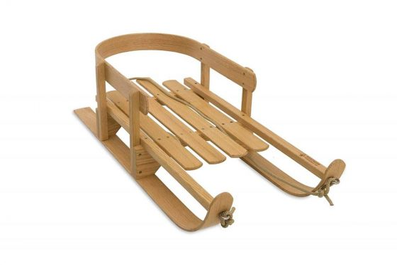 Outdoor Wooden Pull Sleds for Kids
