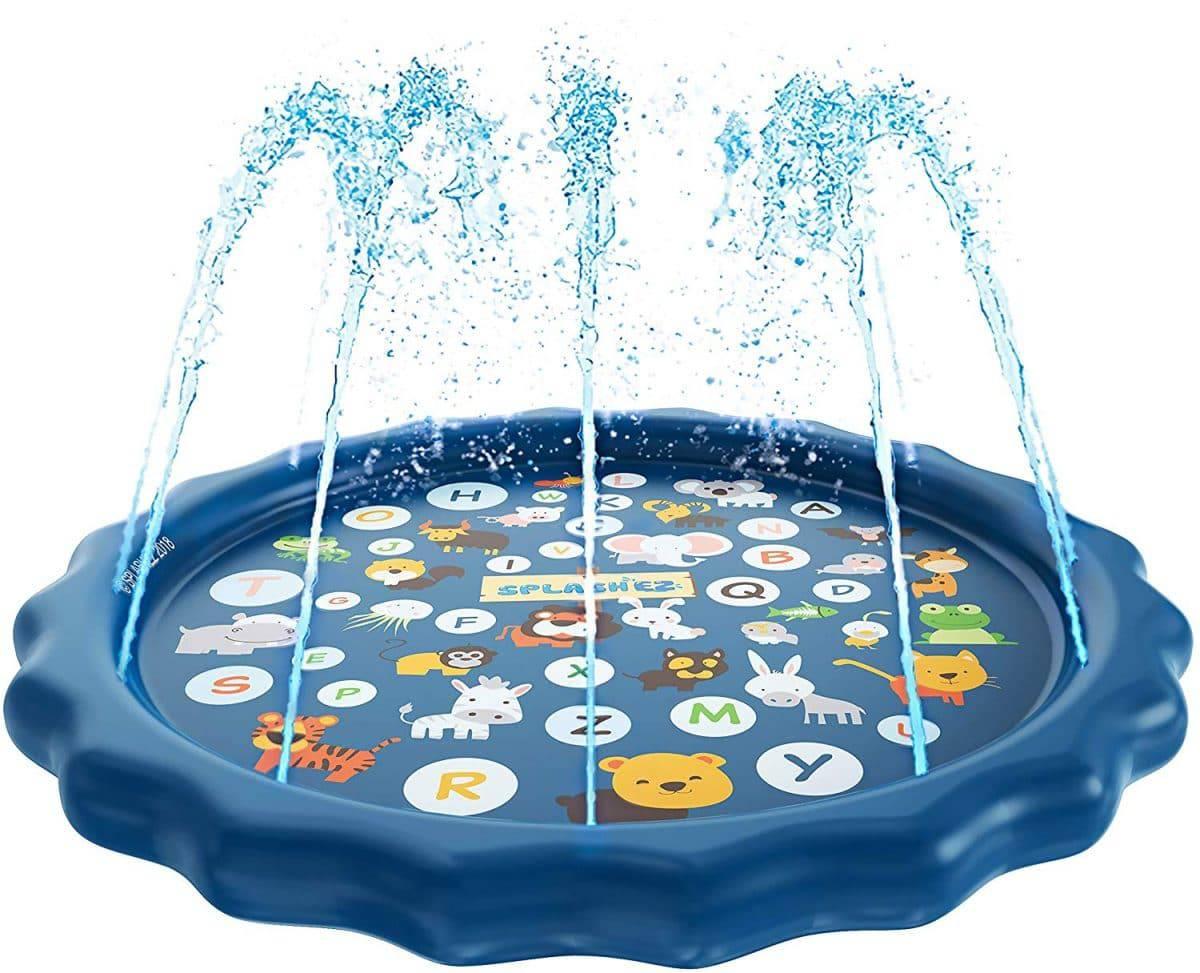 Trampoline Water Sprinkler for Kids Outdoor Spray Waterpark Game Fun Summer Toys