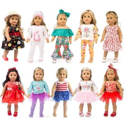 19 Pcs ZQDOLL Girl Doll Clothes Gift Sets