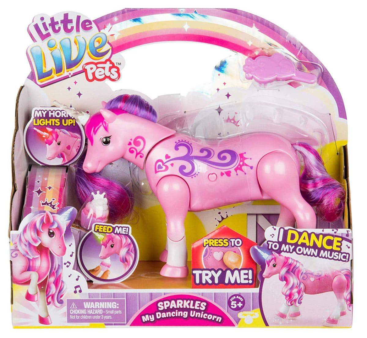 Girl/'s 9 Piece  Large Unicorn And Pony Play Set Complete Toy Gift Set