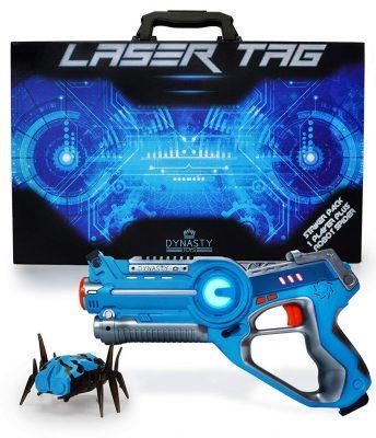 DYNASTY Toys Kids Game Laser Tag and Robot Bug Striker Pack