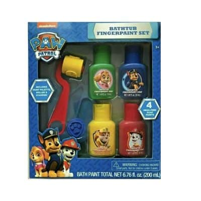 Paw Patrol Bath Set Colors Fingerpaint Soap & Roller Stamper