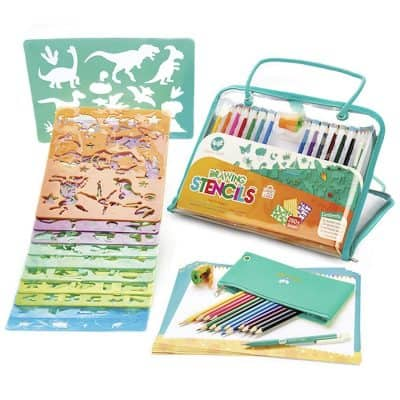 Creabow Crafts Drawing Stencils Set for Kids