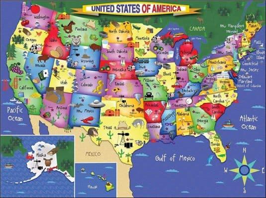 White Mountain Puzzles USA Map
