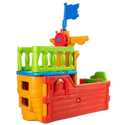ECR4Kids Indoor/Outdoor Buccaneer Boat with Pirate Flag for Kids