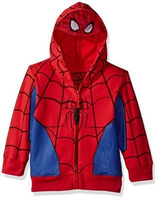 Marvel Boy's Spiderman Mask Costume Hoody