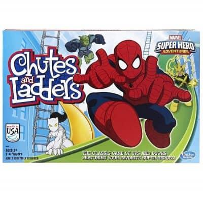 Marvels Spiderman Web warriors Chutes $ ladders game