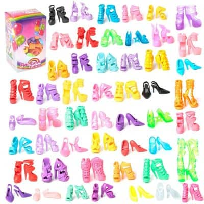 Colors of Rainbow 50 Pairs Accessories for Barbie Doll