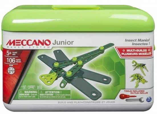 Meccano – Erector Junior Toolbox, Insect Mania, 4 Model Building Kit
