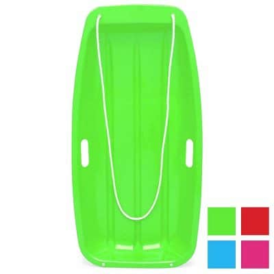 Best Choice Products 35in Kids Plastic Sport Tobagg Snow Sled