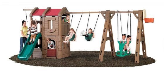 Step2 Naturally Playful Adventure Lodge Play centre Swing Set with Glider