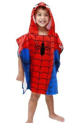 Jay Franco Spiderman Hooded Towel, Classic