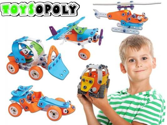 132 pcs 5- in -1 Build and Play Toy Set