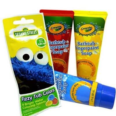 Crayola Bathtub Fingerpaint Soaps and Sesame Street Bath Fizzers
