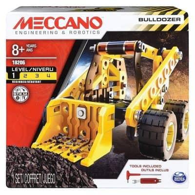 Erector by Meccano Bulldozer Model Vehicle Building Kit