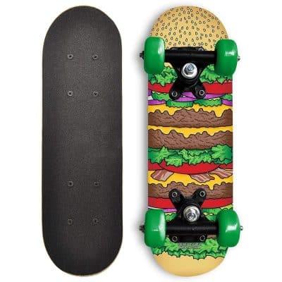 Rude Boyz 17-Inch Mini Wooden Cruiser Graphic Beginner Skateboard
