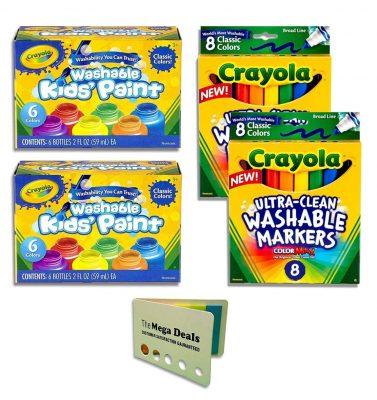 Crayola Washable Kids Paint, Ultra-Clean Washable Markers