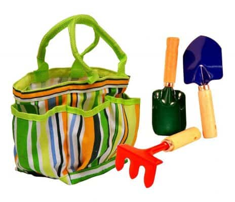G & F Products Toysmith Kids' Garden Tote with Tools