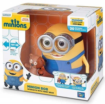 Despicable Me Minions Bob Interacts with Teddy Bear