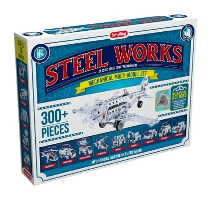 Schylling Steel Works Mechanical Multi Model Construction Building Kit