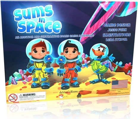Sums in Space – Addition and Subtraction Board Game Adventure