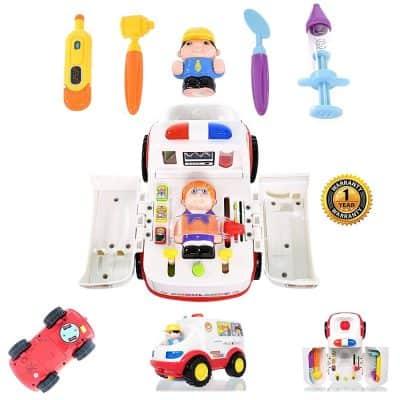 Play Basics Ambulance Toy Doctor Kit