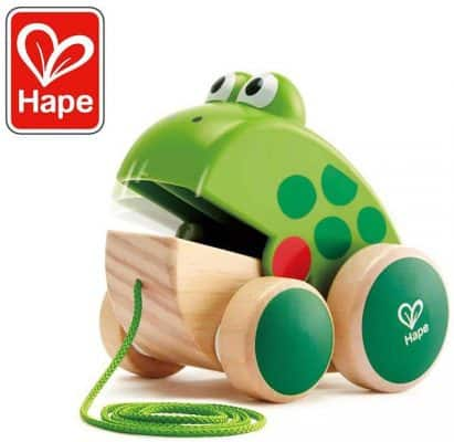 Hape Wooden Frog Fly Eating Pull Toddler Toy
