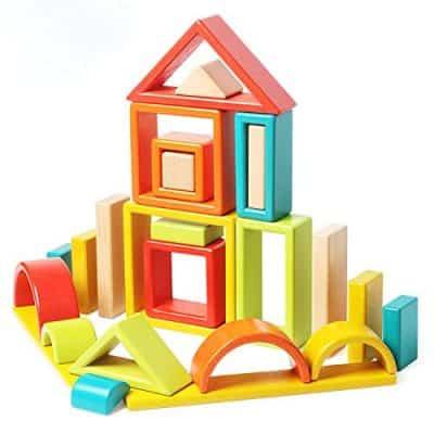 Agirlgle Wooden large Building Blocks for Toddlers