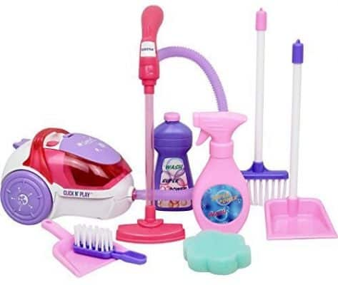 Click N' Play Toy Realistic Vacuum Cleaner, and House Keeping Set
