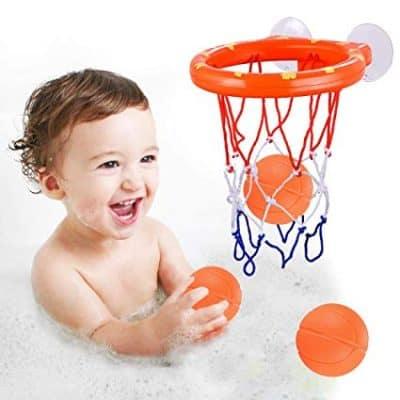FittiDoll Bath Toy Hoop Basketball Bath Toy Bathtub Shooting Game