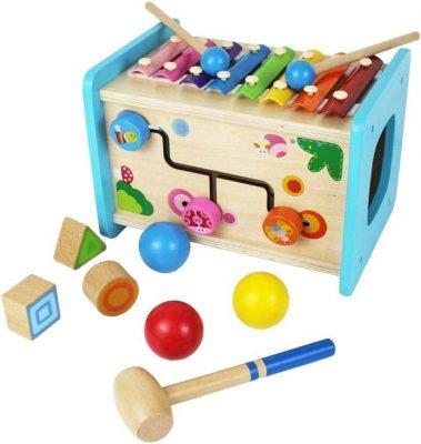 UPSTONE Educational Wooden Activity Cube