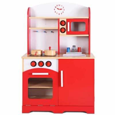 Giantex Wood Kitchen Play Set for Kids