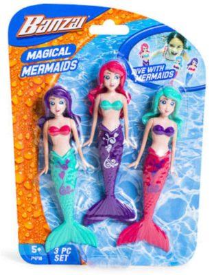 Fun Stuff Banzai Spring and Summer 3 Piece Magical Mermaid Dolls