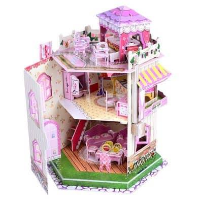 Rooftop Romance 3D Puzzle Dollhouse