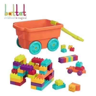 Battat - Locbloc Wagon – Building Toy Bricks