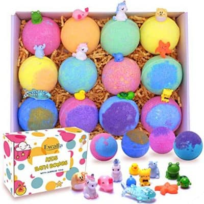 Excalla Kids Bath Bombs with Surprise Toys Inside
