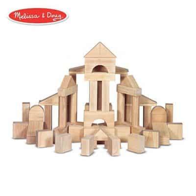 Melissa & Doug Building Blocks with Wooden Storage Crate