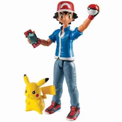 TOMY Pokémon Hero Figure, Ash and Pikachu