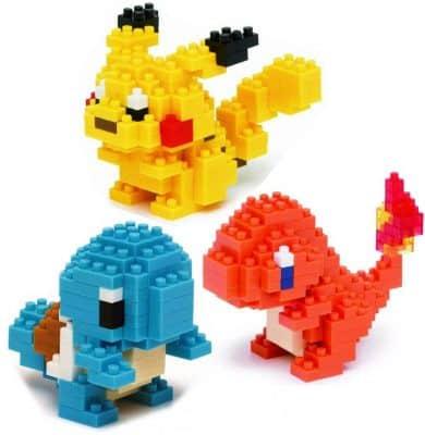 Nanoblock Building Blocks Pokemon Pikachu, Charmander & Squirtle