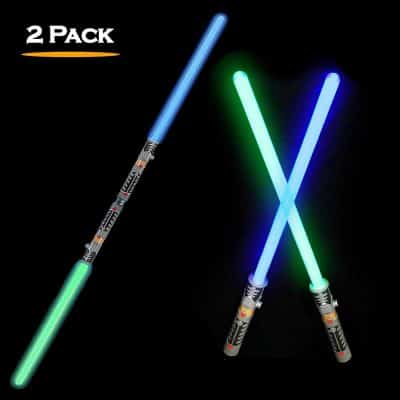 2-in-1 LED Light Up Swords Set