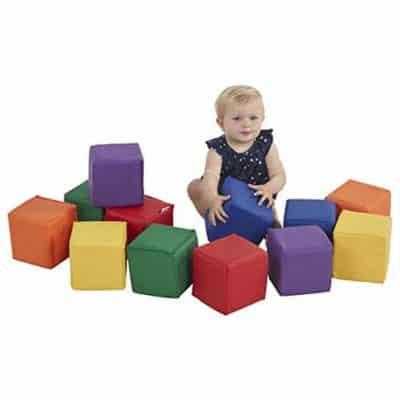 ECR4Kids SoftZone Patchwork Toddler Block Playset