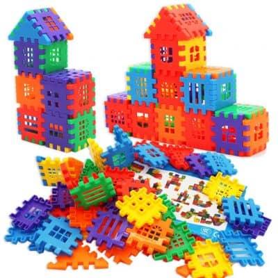 MICHLEY Interlocking Builders Block Play