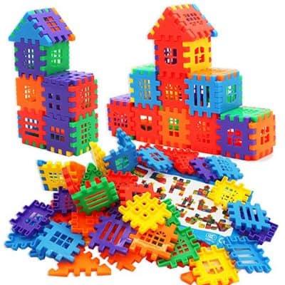 Michley Interlocking Builders Blocks Play Set for Child