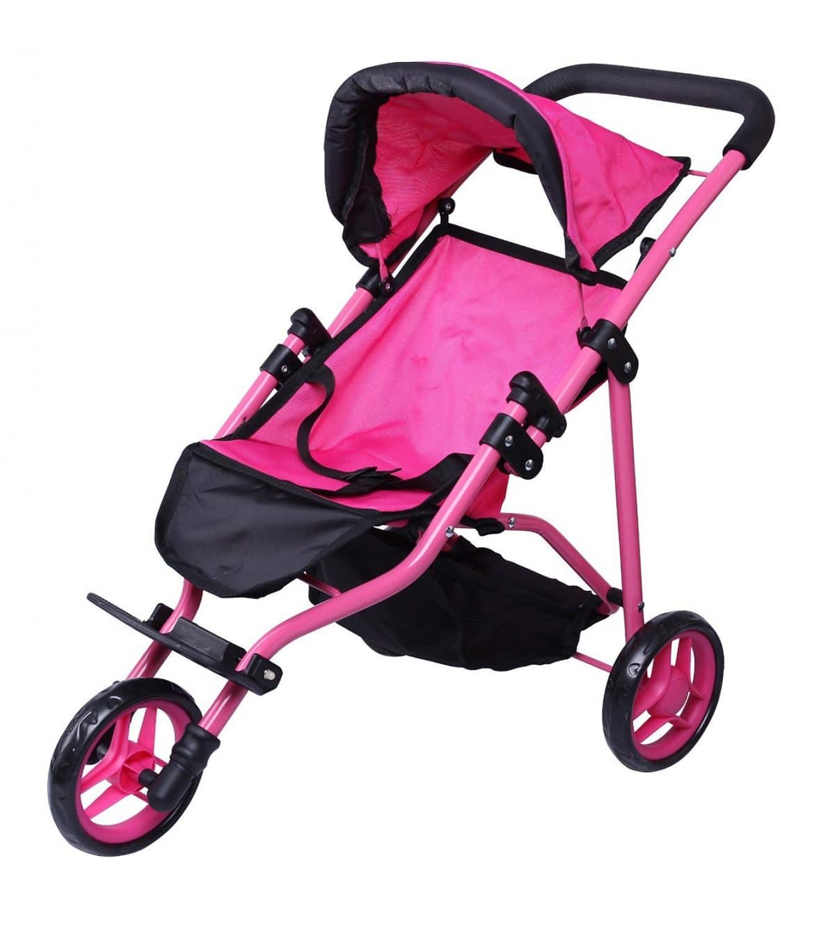 Foldable Doll Stroller Plastic Collection Toy With Sturdy Handle Children/'s Gift