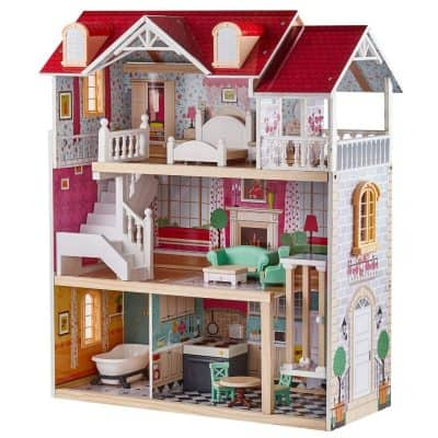 TOP BRIGHT Wooden Doll House